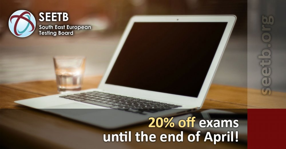 20% off on all exams until the end of April!