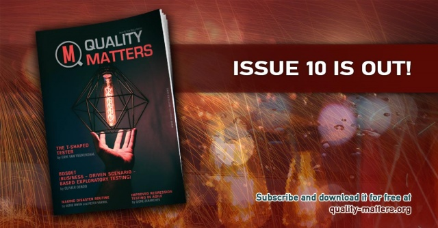 The new issue of Quality Matters is now out!