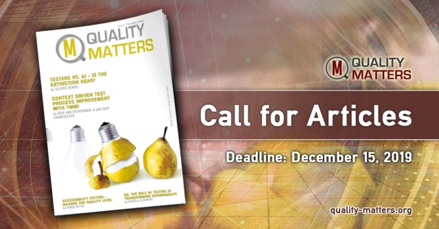 Call for Papers for Issue 10 of Quality Matters is now open!