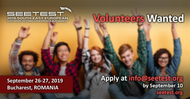 SEETEST 2019 is looking for dedicated volunteers!